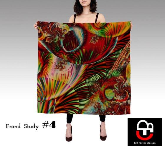 Frond Study #4 scarf 36x36
