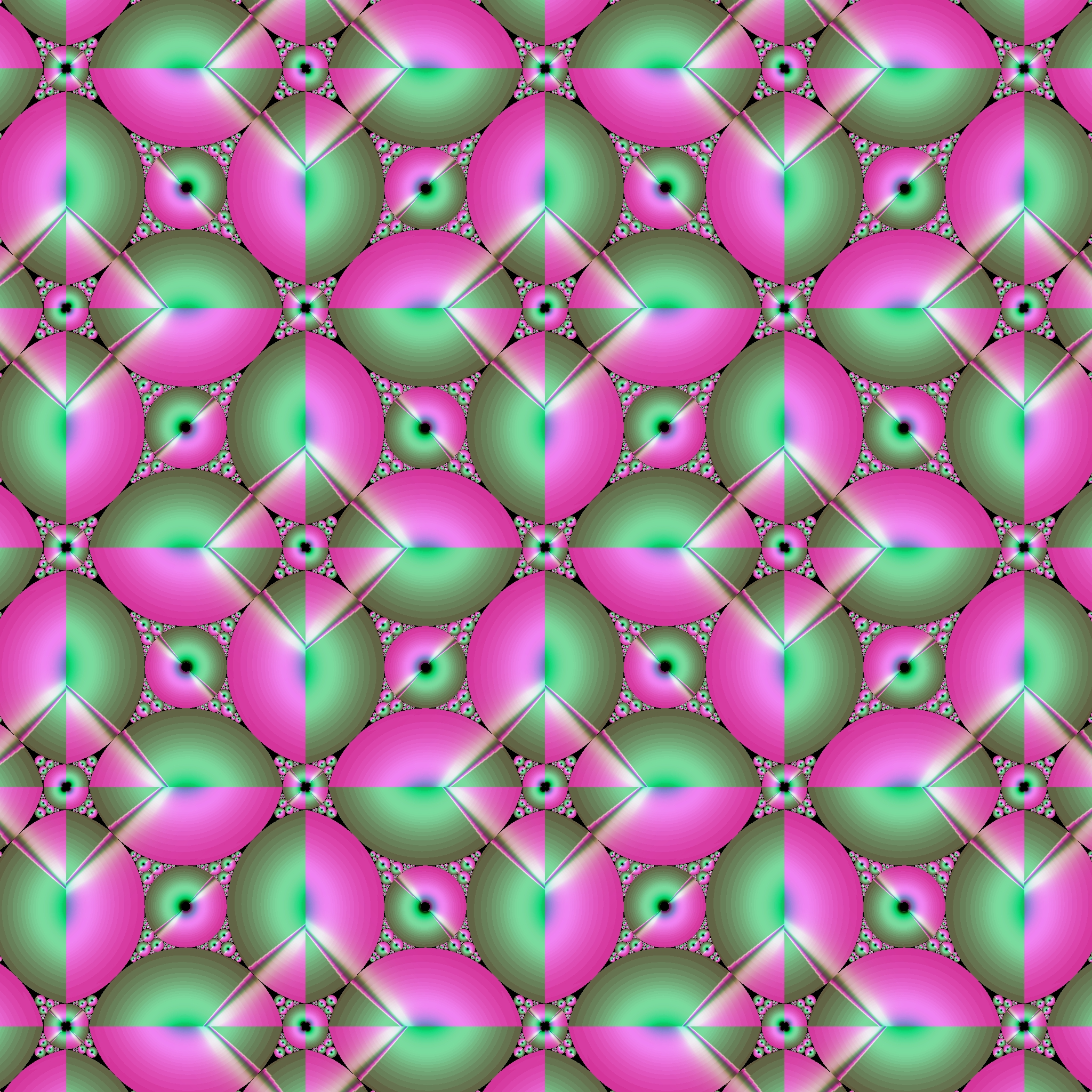 Pink Green Egg Pattern