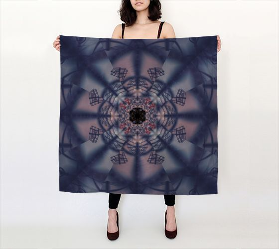Shadow Fan big square scarf