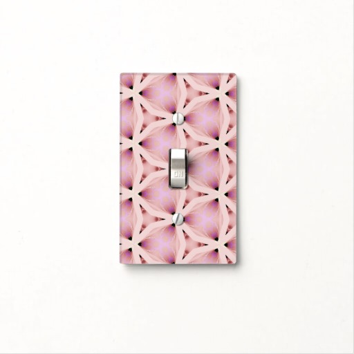 Dusty Rose Pattern light cover insitu view