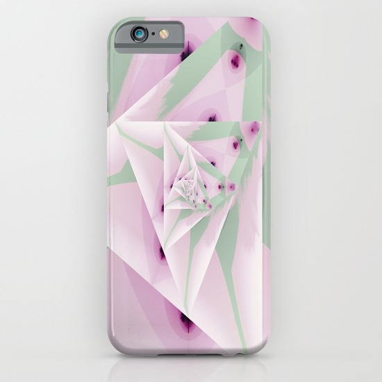 Pointed Pale Petals phone case